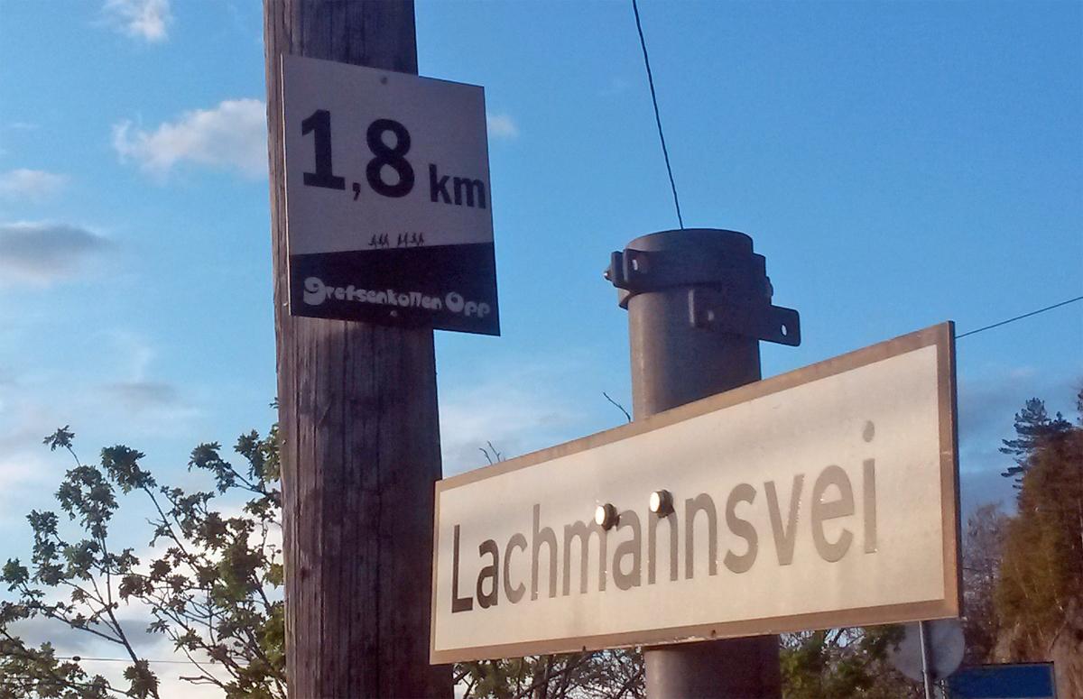 Mellomtid 1.8 km fra mål